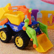 Childrens Beach Inertia Engineering Vehicle ABS <b>Plastic Excavator</b> ...