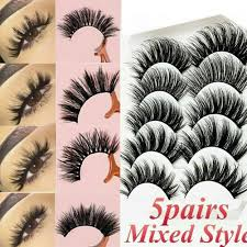 HOT SALE  DINGSEN 5 Pairs 3D Mink Hair Natural <b>False Eyelashes</b> ...