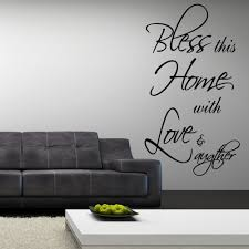 wall decal family art bedroom decor aliexpresscom buy bless this home quotes wall decal decor art vinyl living family room wallpaper wall stickers free shipping size cm from reliable
