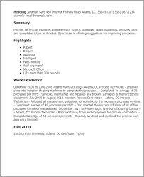 professional process technician templates to showcase your talent    resume templates  process technician