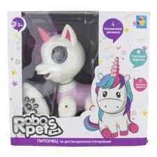 Интерактивная <b>игрушка 1TOY Robo</b> Pets Т17157 Единорог ...