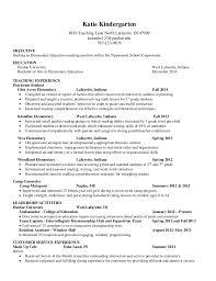 resume examples    technology    katie kindergarten teaching