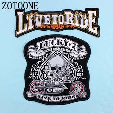<b>ZOTOONE</b> large back skull <b>letter</b> punk <b>Iron</b> On Patch For Clothing ...