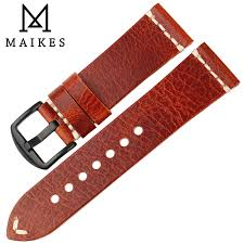<b>Maikes New Arrival</b> Watch Accessories Orange Geniune Italy Calf ...
