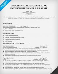engineering cv template engineer manufacturing resume industry mechanical internship samples engineering resume examples for students