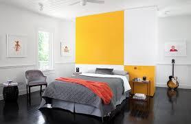 gray yellow bedroom theme