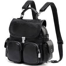 Backpack women purse anti theft <b>small</b> convertible <b>pu leather</b> ...