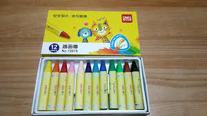 <b>Deli 72079 Oil Pastel</b> Crayon 12 pcs from Gearbest - YouTube
