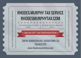 services rhodes murphy tax service 40 coupon