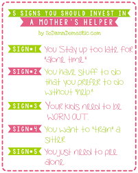 signs you should invest in a mother s helper cherish mothers helper image