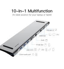 <b>Vention All</b> in <b>1 USB C</b> to HDMI VGA Converter USB 3.0 HUB SD/TF ...
