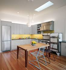 contemporary yellow kitchen ideas view in gallery contemporary kitchen with gray cabinets and yellow bac