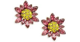 Heidi Daus Marquise <b>Crystal</b> & <b>Rhinestone Flower</b> Stud Earrings - Lyst