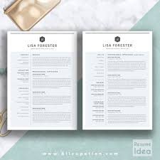 creative resume template modern cv template word cover letter professional resume template cv template 1 2 and 3 page resume