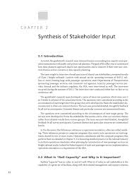 chapter 2 synthesis of stakeholder input capacity modeling page 12