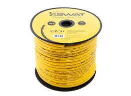 <b>Силовой кабель Swat SCW</b>-<b>4Y</b> 4Ga 25мм2, желтый, ССА, 50м ...