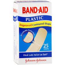 Band-Aid Brand <b>Adhesive Bandages Plastic</b> 25 <b>Strips</b> - Clicks