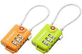 <b>Munkees</b> Tsa Cable <b>Combination Lock</b>, Luggage, Travel Padlock ...