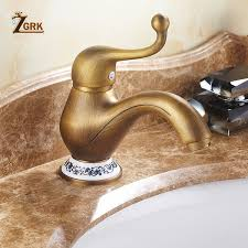 2019 <b>ZGRK</b> Antique Brass Jug <b>Tap Hot</b> And Cold Basin Mixer ...