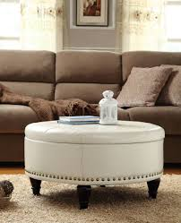 marvelous furniture for living room decoration with various round brown cream leather ottoman fascinating living bedroom furniture interior fascinating wall