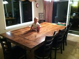 7ft dining table: ft farmhouse dining table w endcaps rustic dining tables