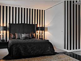 amazing accents of black and white bedroom interior design ideas with striped wallpaper and black bed bedroom awesome black white bedrooms black