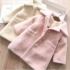 2019 <b>Autumn</b> Spring Baby Girls <b>Faux Mink Fur</b> Sweater <b>Coat</b> ...