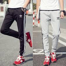 2019 Adidas <b>spring autumn men's</b> pants Side stripe large size ...