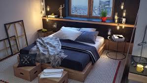 bedroom captivating masculine bedroom furniture wooden floating shelf unique bulb lamp round metal side table wooden captivating side table