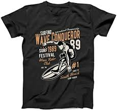 <b>Wave Conqueror</b> Surf Festival Wave Rider Club Men's T-Shirt ...