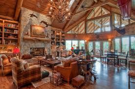log cabin living room beautiful rooms