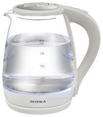 Купить <b>Чайник</b> электрический <b>SUPRA KES</b>-<b>1878G</b>, белый в ...