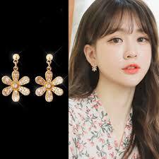 <b>Five Leaves Pearl</b> Earrings Women Accessories <b>Flower</b> | Shopee ...