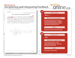 write online reflective writing writing guide revising your work preview pdf version