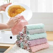 4pcs/<b>lot Kitchen</b> Cleaning Dishcloth Set Double Layers Strong ...