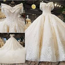 <b>Amazing</b> V neck Off The Shoulder A line Wedding Dresses <b>Beaded</b>