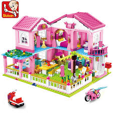 <b>City House Big</b> Garden Villa Building Blocks Sets Brinquedos Yacht ...
