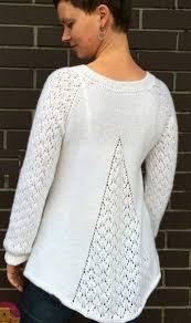 Вязаные пуловеры, Пуловер спицами с клинообразным ...