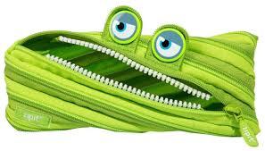 Купить <b>ZIPIT Пенал</b> Wildlings Pouch (ZTM-WD) зеленый по низкой ...
