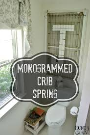 monogram wall decor petticoat junktion awesome idea for turning a vintage crib spring into inexpensive person