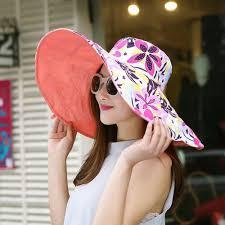 <b>2018 Summer</b> large brim beach sun hats for women <b>UV protection</b> ...