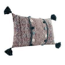 Купить «<b>Подушка</b> с помпонами и кисточками <b>Ethnic</b>, 40х60 см ...