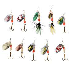LUSHAZER <b>10pcs</b>/<b>lot fishing spoon lure</b> spinner bait 2.5 4g metal ...