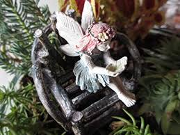 Red Hair Miniature Garden Fairy Amie Sitting with ... - Amazon.com
