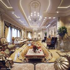 extravagant villa design with antique style amazing living room tiered ceiling luxury villa in qatar amazing design living room