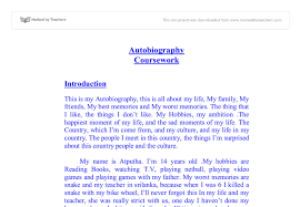 how to write an autobiography essay examples   mfacourses   web    how to write an autobiography essay examples