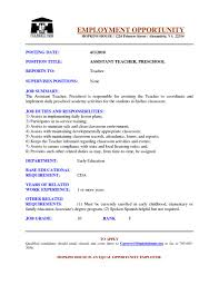 resume for preschool teacher getessay biz preschool assistant resume by jjq13393 in resume for preschool