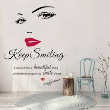 Online Shop Sexy <b>Vinyl Stickers Beauty</b> Salon Face Lips <b>Wall</b> ...