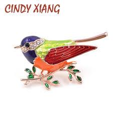 <b>CINDY XIANG New Arrival</b> Enamel Pins Bird Brooch Fashion Cute ...