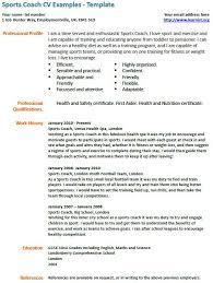 sample resume resume template sports management   professional    sports coach cv example learnistorg